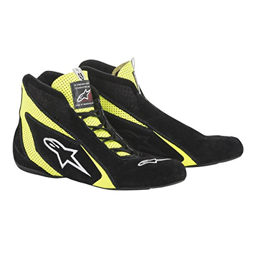 Alpinestars Men's Race Driving Shoes and Boot (Black, Size 10.5) - Nomex Driving Shoes