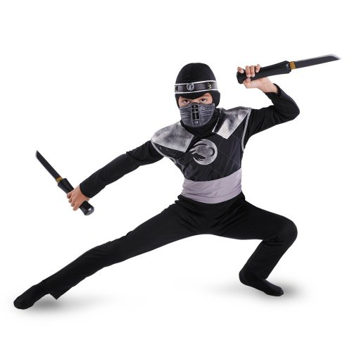 Dark Raven Ninja Classic Costume - Medium (7-8) ()