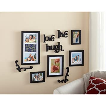 Amazon.com: Mainstays 10-Piece Expressions Wall Frame Set: Home ...