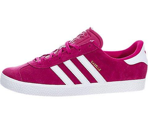 Gazelle 2 Leather (Adidas Gazelle 2 J Big Kids Shoes Bold Pink/White/White ba9315 (6 M)