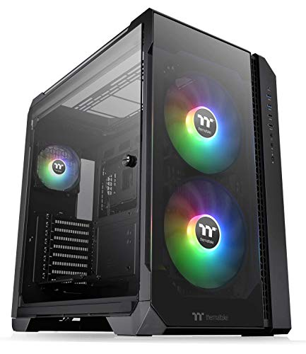 Thermaltake View 51 Motherboard Sync ARGB E-ATX Full Tower Gaming Computer Case with 2 200mm ARGB 5V Motherboard Sync RGB Fans + 140mm Black Rear Fan Pre-Installed CA-1Q6-00M1WN-00