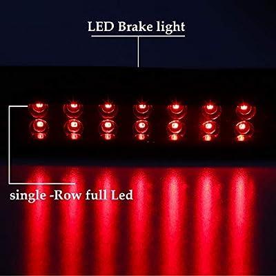 Third 3rd Brake Center High Mount Stop Light LED Lamp CHMSL For 1988-1998 Chevy Silverado / 1992-1998 GMC C1500 C2500 K1500 K2500 Suburban (Smoke): Automotive
