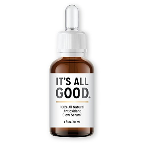 It's All Good Natural Vitamin C Facial Serum | Topical Anti Aging, Anti Wrinkle, Antioxidant Skin Care for Face - All Natural Vegan Rosehip Essential Oil |  1 fl oz