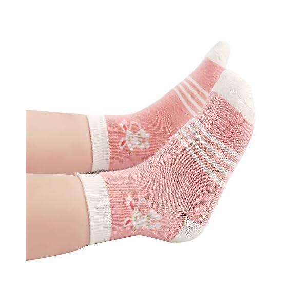 Cotton Coming Rosa Cotone Bambina Neonata Calzini ,9 Paia Carino Bambino Calzamaglie Neonata, Calzini per bambina 7