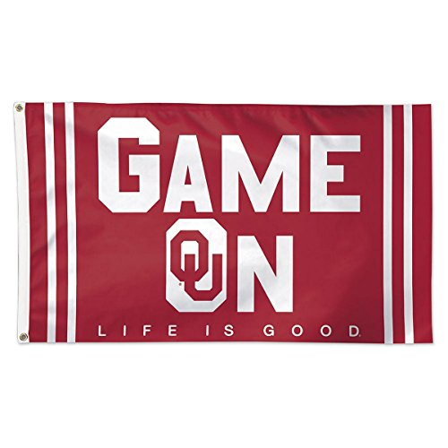 university oklahoma game college flag