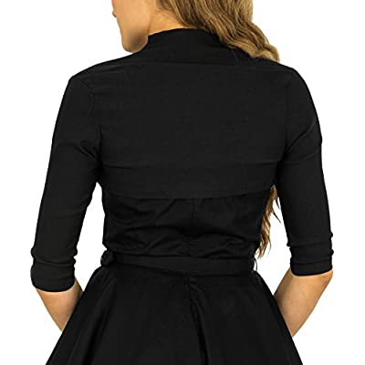 BlackButterfly Tailored 3/4 Sleeve Bolero at Women's Clothing store