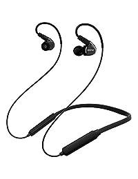 Adorer   Auriculares Bluetooth con correa para el cuello con micrófono y volumen, auriculares inalámbricos para correr o entrenar, para teléfonos móviles, tabletas y televisores