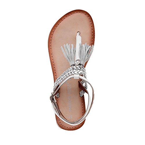 Marco Tozzi 2-2-28129-28-197 - Sandalias de vestir de Piel para mujer, color blanco, talla 40
