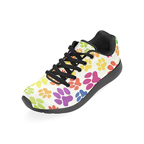 Colorful Bone Sneakers Size Lightweight Pattern Zenzzle Running and Athletic 36 Dogs Casual on Paws Shoes Womens 45 Flowers Color14 Print Zq8cfa1pBc