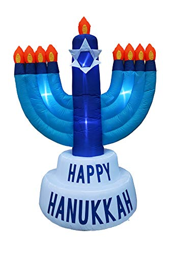 BIGJOYS 8 Ft Hanukkah Inflatable Candle Holder Decoration Chanukah Inflatables Candle Stick Decorations for Home Garden Lawn Yard Indoor Outdoor ()