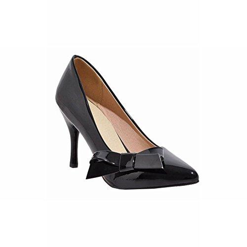 Latasa Womens Cute Bow Pointed-toe High Heel Dress Pumps Black X75a4Ih6