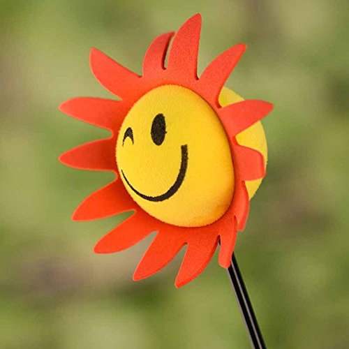 Car Truck Yellow Face Sun Sunshine Sunflower Antenna Pen Topper Aerial Ball (Car Antenna Topper Pencil)