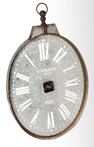 Cape Craftsmen Oval Pocket Watch Galvanized Metal Wall Clock 4