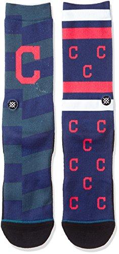 Stance Men's Indians Splatter Socks Blue (Cleveland Indians Arch)