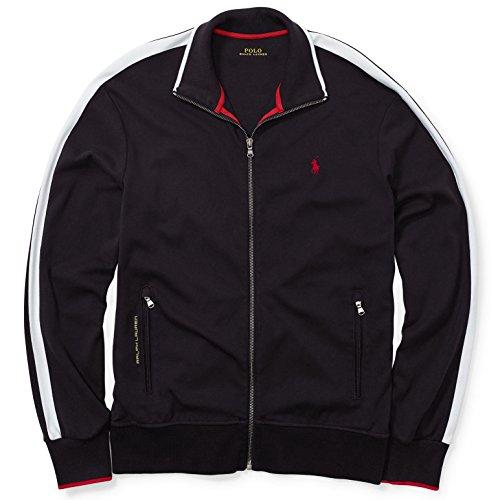 Polo Ralph Lauren Men's Full-Zip Interlock Track Jacket, M, Polo Black