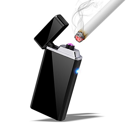 DIBIKOU Electric USB Pipe Lighter Rechargeable Dual Arc Beam Cigarette...