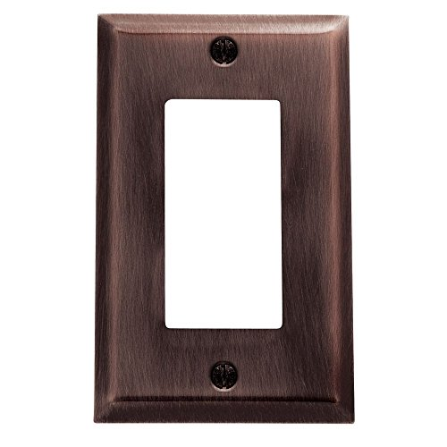 Baldwin 4754.112.CD Classic Square Beveled Edge Single GFCI Switch Plate, Venetian Bronze (Bronze Venetian Switchplate)