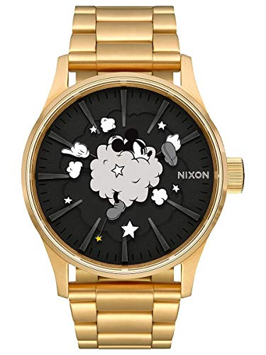 Nixon Men's Sentry SS Disney Collection Gold/Black/Fight Cloud One Size