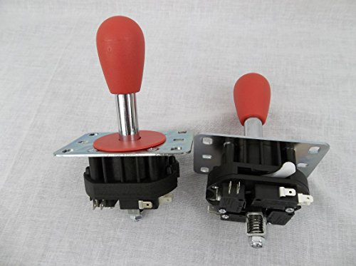 (RetroArcade.us Mag-stik-Plus Arcade Joystick Player Switchable from 4 to 8 Way from The Top of The Panel)