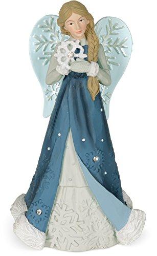 (AngelStar Serenity Winter Angel Figurine, Light Blue)
