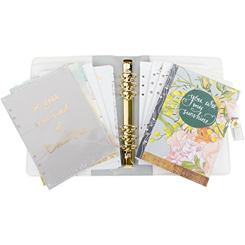 websters-pages-a5pk001-tw-u-teal-stripe-color-crush-a5-faux-leather-planner-kit-75-x-10