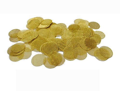"Price comparison product image GRIMM 100 Brass Tobacco Pipe Bowl Screens - 3/4"" (.75) For Smoking Pipes"