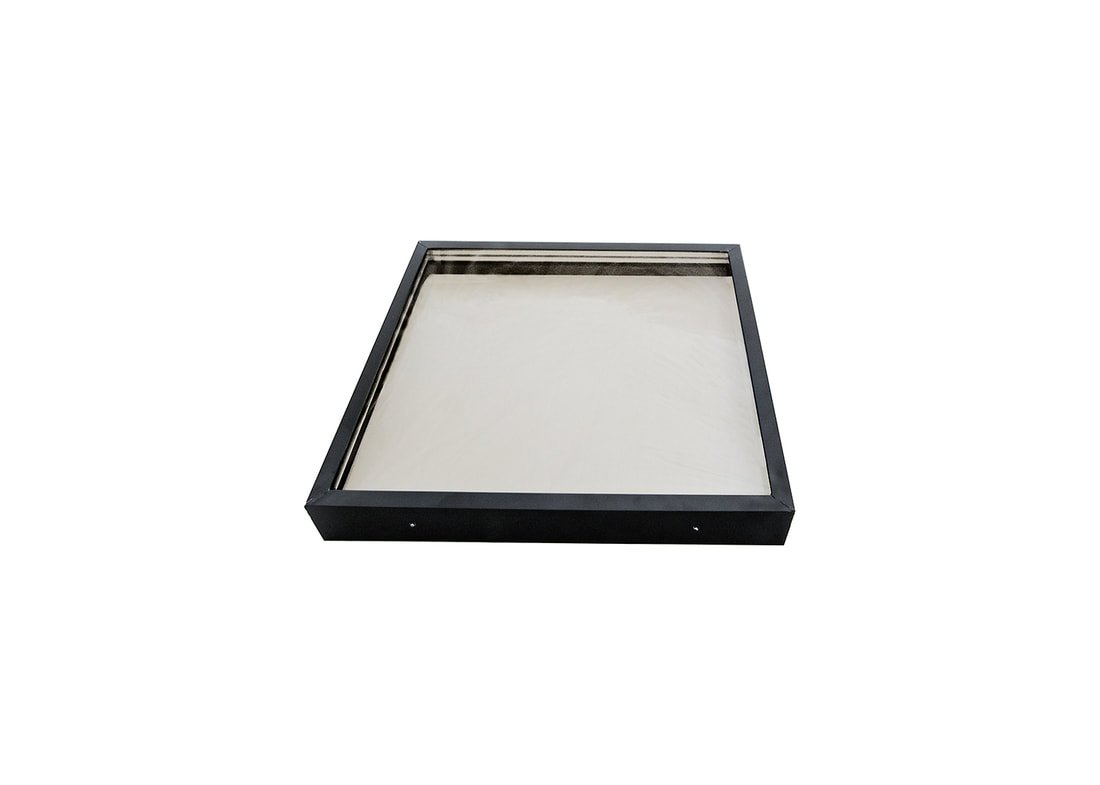 SIG Skylights CMB 24 x 24 Curb Mounted Glass Skylight w/Bronze Insulated Glass, 1'' Drop