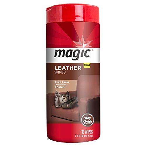 Magic Leather Wipes - Clean and Condition Car Seats, Shoes, Couches and More - 30 Count