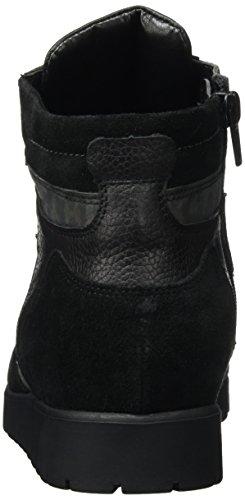 Waldläufer Hegli, Botines para Mujer Negro - Schwarz (VELOUR Softlack Brilloco Longbeach schwarz)