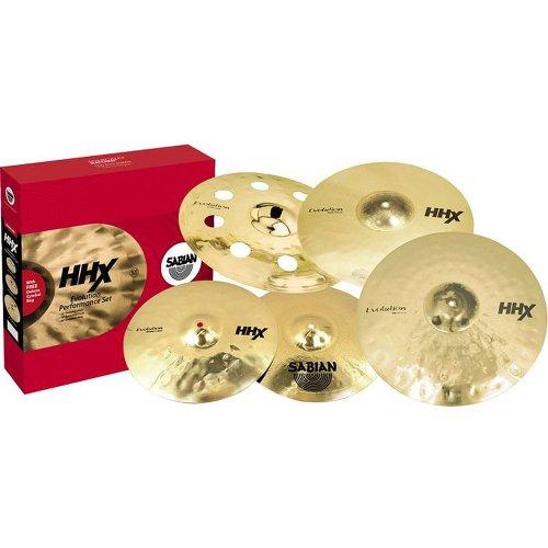 Sabian 15005XEB-NB HHX Evolution Performance Cymbal Set without (Sabian Vault Hi Hat Cymbals)