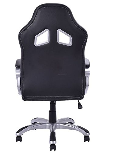 419ixQuXiaL - KA-Company-Chair-Style-High-Back-Gaming-Racing-Ergonomic-Office-Leather-Pu-Swivel-Computer-Executive-360-Degree-5-Wheels-Mesh-Bucket-Seat-White
