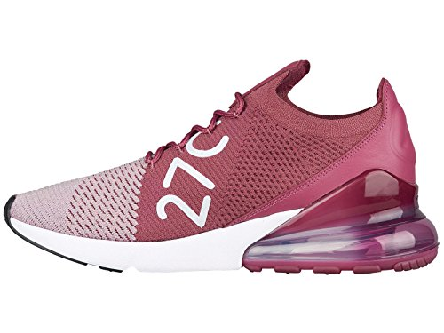 NIKE Men's Air Max 270 Flyknit Plum Fog/White/Vintage Wine/Total Crimson Nylon Basketball Shoes 11 (D) M US