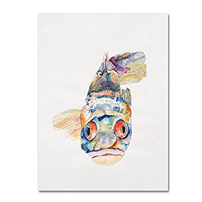 Trademark Fine Art Blue Fish by Pat Saunders-White Canvas Wall Art - Artist: Pat Saunders-White Subject: Animals Product Type: Gallery-wrapped canvas - wall-art, living-room-decor, living-room - 419iyCYKIIL. SS400  -