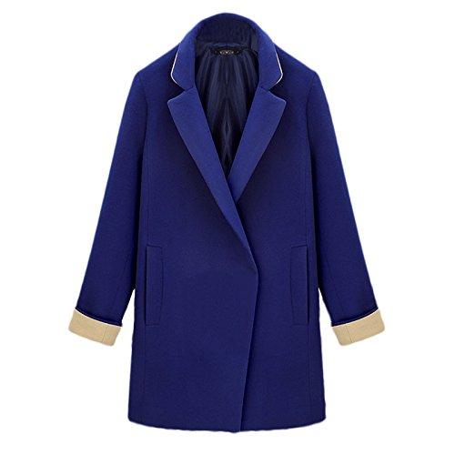 sleeve Pocket FYM Windbreaker Lapel Coat DYF Long Color COAT size Bump Blue XXXXL Loose Big FPxfSF