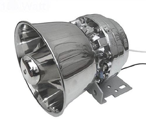 Viking Horns V918C Loud 150W Siren/Alarm/PA/Public Address Speaker Chrome Metal Housing 8ohm