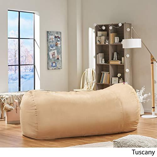 David Faux Suede 8 Feet Lounger Bean Bag (Tuscany Tan)
