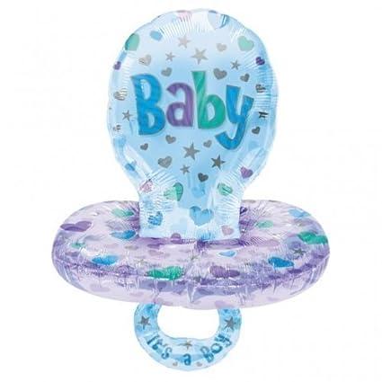 Globo de lámina con diseño de Chupete Gigante Azul para bebé ...