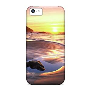 New Fashionable 88caseme CMQ56911YPFR Covers Cases Specially Made For Iphone 5c(sunset)