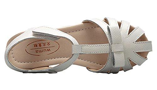 La vogue Zapatos Niña Sandalia Antideslizante Para Verano Blanco