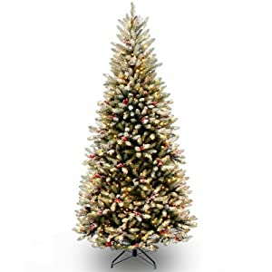 National Tree Sduf2-304-75 Dunhill Fir Slim Artificial Hinged Tree, 7.5' 77