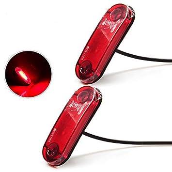 LED Seitenmarkierungsleuchten 12V//24V f/ür Auto LKW Anh/änger SUV Van Wasserdicht Markierungsleuchten E-geprueft WildAuto Gelb 2stk-Schwamm Basis