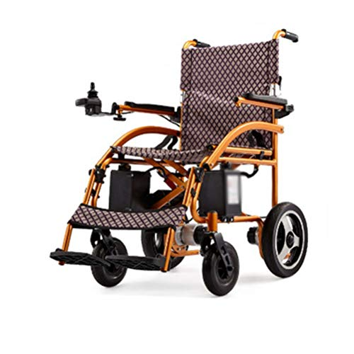 NKDK Wheelchair Aluminum Alloy Electric Wheelchair Lightweight Folding Old Scooter Disabled Multifunctional Intelligent Wheelchair
