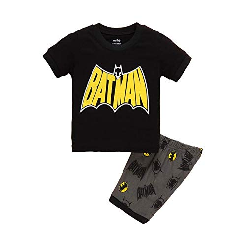 Boys Pajamas 100% Cotton Batman Short Kids Snug Fit Pjs Summer Toddler Sleepwear (085, 5T)