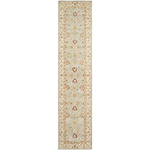 Safavieh Antiquities Collection AT822A Handmade Traditional Oriental Grey Blue and Beige Wool Runner (2'3'' x 22')