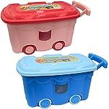 Oyuncak Kutusu Renkli Tekerlekli