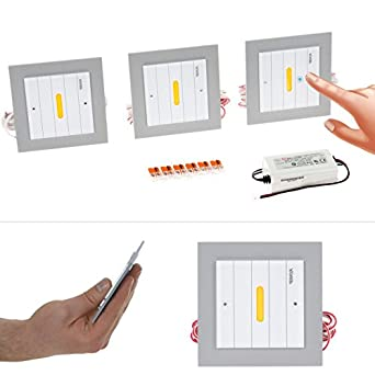 under cabinet lighting switch. piraya ultra thin under cabinet lighting kit with touch switch set of 3 960lmtotal 96w counter 3000k warm white kitchen k