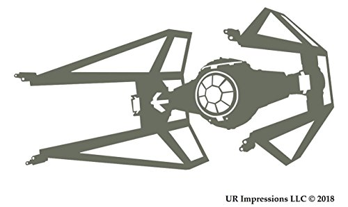 Gry T.I.E Interceptor Saber Star Wars Inspired Decal Vinyl Sticker|Cars Trucks Walls Laptop|GRAY|5.5 X 3.2 In|URI550