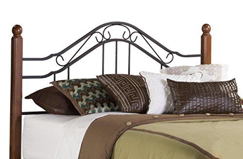 Hillsdale Furniture 1010HK Madison Headboard, King, Textured Black - King Size Metal Footboard