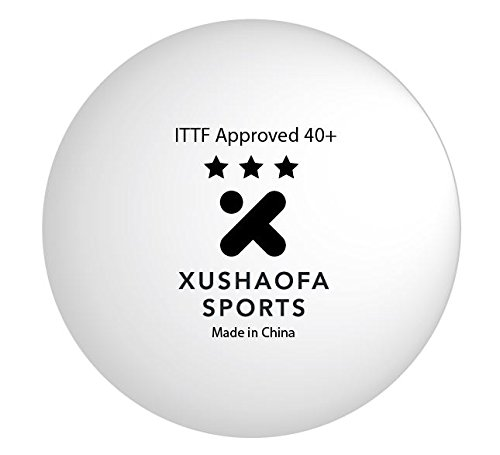 Xushaofa 40+ Seamless Poly Table Tennis Balls - 3 Star