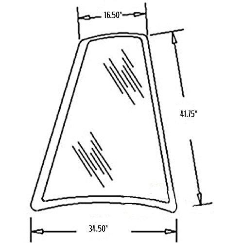 D126204 New Case Backhoe RH Rear Quarter Glass 580K 580L 580SK 580SL 590 590SL + ()